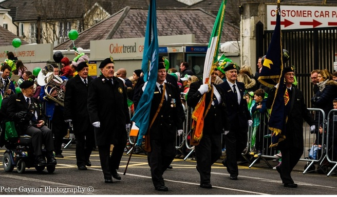 2015 parade in Swords Dublin. Marching down main street