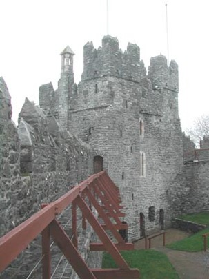 Swords Castle view from inside the walls